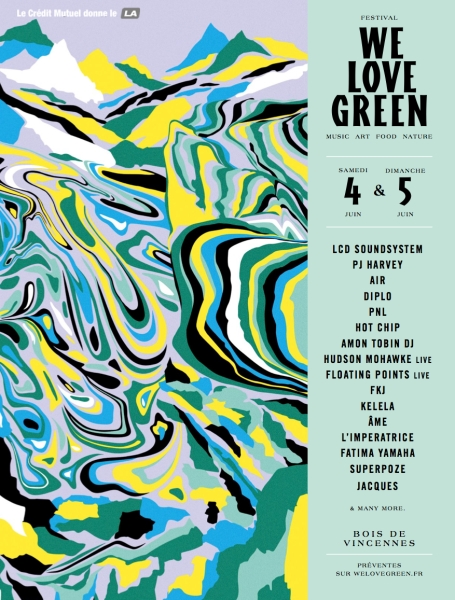 We Love Green 2016 - LCD Soundsystem - James Blake - PJ Harvey - Hot Chip - PNL - Mura Masa...